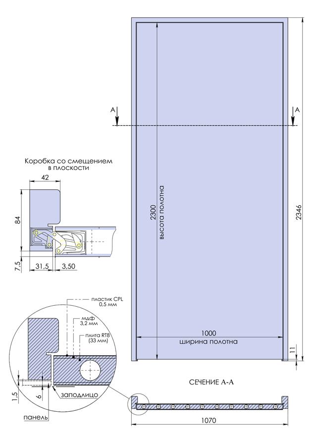 Двери по чертежам заказчика